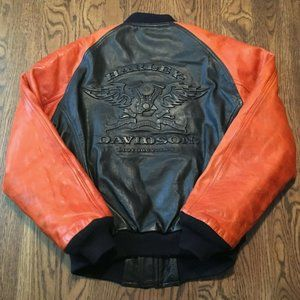Vintage Harley Davidson Leather Jacket XS V Twin